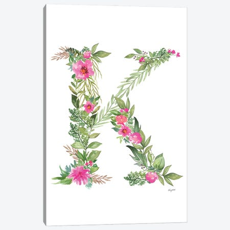 Botanical Letter K Canvas Print #KMT26} by Kelsey McNatt Canvas Art