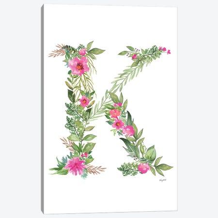 Botanical Letter K Canvas Print #KMT26} by Kelsey McNatt Canvas Art