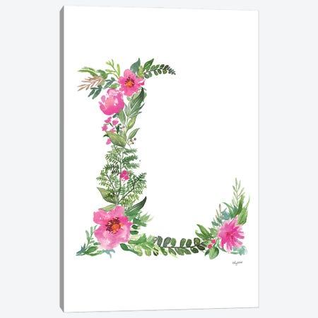 Botanical Letter L Canvas Print #KMT27} by Kelsey McNatt Canvas Art