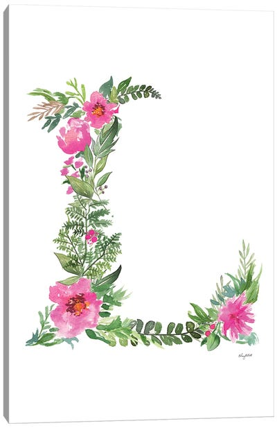 Botanical Letter L Canvas Art Print