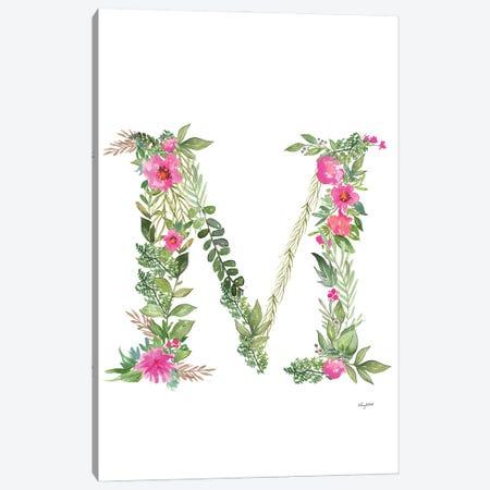 Botanical Letter M Canvas Print #KMT28} by Kelsey McNatt Canvas Print