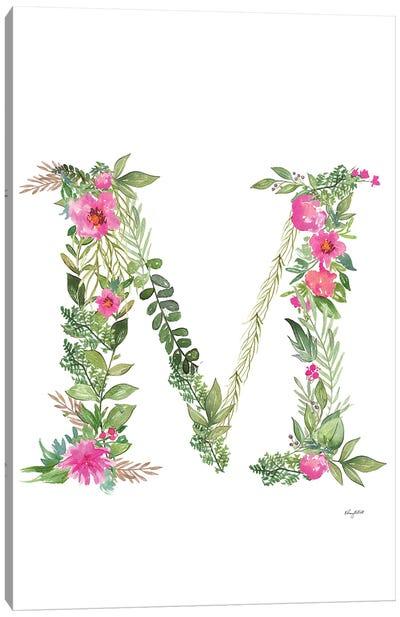 Botanical Letter M Canvas Art Print
