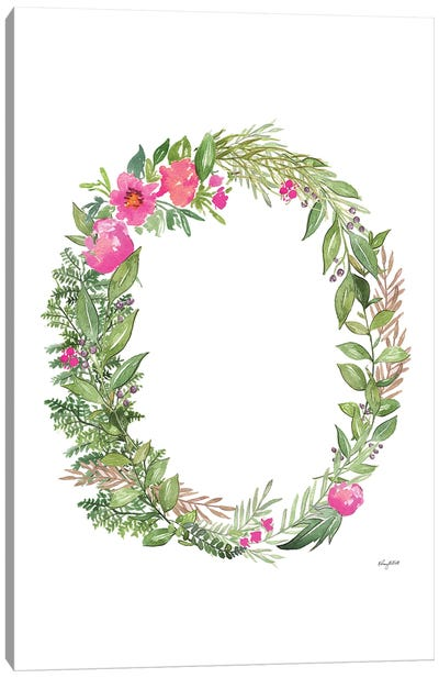 Botanical Letter O Canvas Art Print
