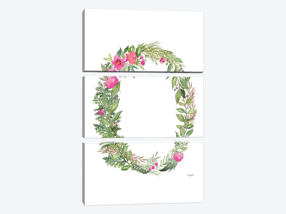 Botanical Letter O by Kelsey McNatt 3-piece Canvas Wall Art