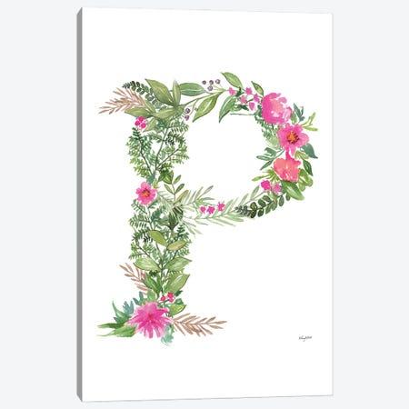 Botanical Letter P Canvas Print #KMT31} by Kelsey McNatt Canvas Art