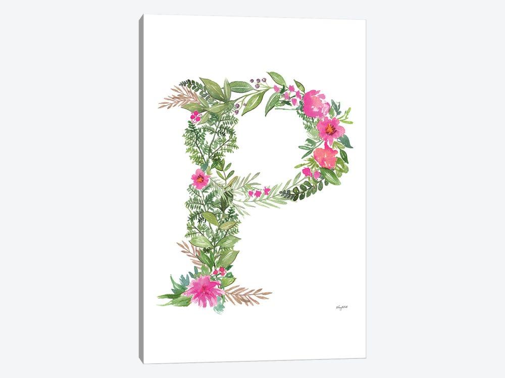 Botanical Letter P by Kelsey McNatt 1-piece Art Print