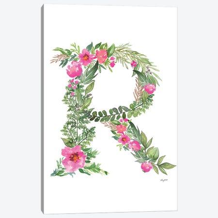 Botanical Letter R Canvas Print #KMT33} by Kelsey McNatt Canvas Art