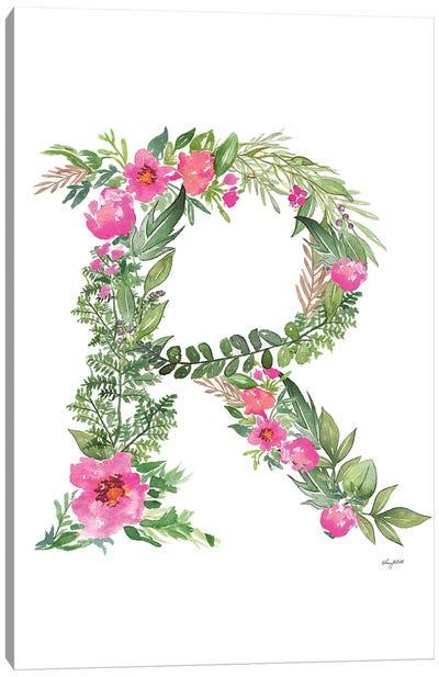 Botanical Letter R Canvas Art Print