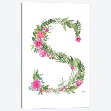 Botanical Letter S Canvas Print #KMT34} by Kelsey McNatt Canvas Print