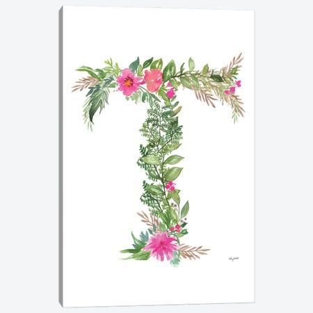 Botanical Letter T Canvas Print #KMT35} by Kelsey McNatt Canvas Print