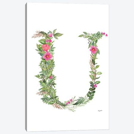 Botanical Letter U Canvas Print #KMT36} by Kelsey McNatt Canvas Print
