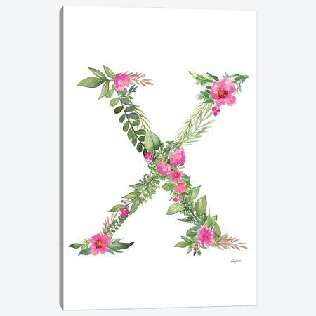 Botanical Letter X Canvas Print #KMT39} by Kelsey McNatt Canvas Artwork
