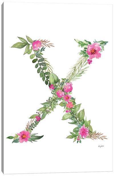 Botanical Letter X Canvas Art Print