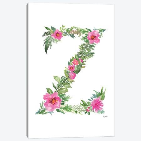 Botanical Letter Z Canvas Print #KMT41} by Kelsey McNatt Canvas Print