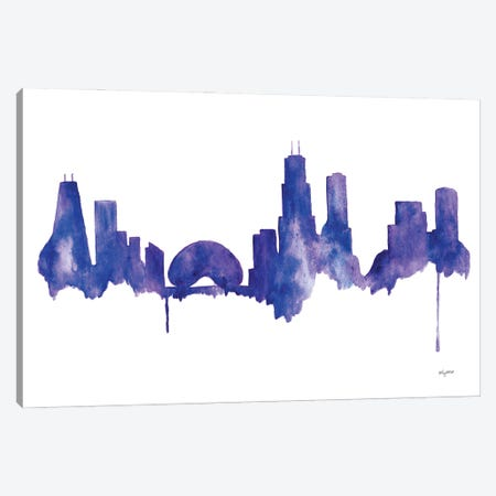 Chicago Skyline Canvas Print #KMT45} by Kelsey McNatt Canvas Art