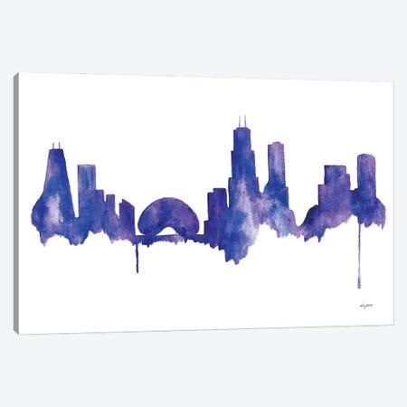 Chicago Skyline Canvas Print #KMT45} by Kelsey McNatt Canvas Art