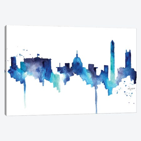 DC Skyline Canvas Print #KMT49} by Kelsey McNatt Canvas Print