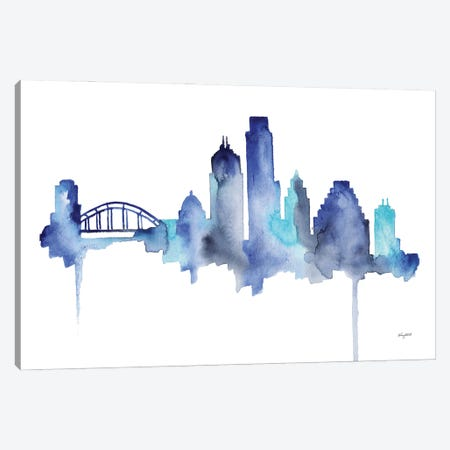 Austin Skyline Canvas Print #KMT4} by Kelsey McNatt Canvas Print