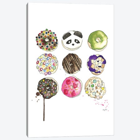 Donuts Canvas Print #KMT50} by Kelsey McNatt Canvas Wall Art