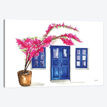 Doors Of Oia Canvas Print #KMT51} by Kelsey McNatt Canvas Artwork