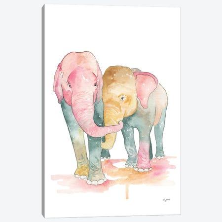Elephants Canvas Print #KMT59} by Kelsey McNatt Canvas Art