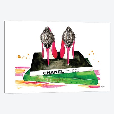 Pink Diamond Heels Canvas Print #KMT5} by Kelsey McNatt Canvas Print