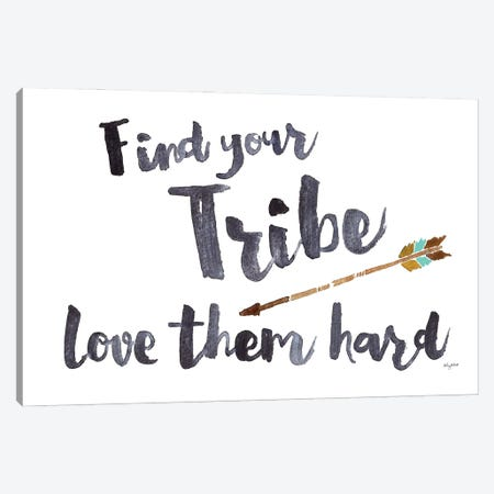 Find Your Tribe Canvas Print #KMT61} by Kelsey McNatt Art Print