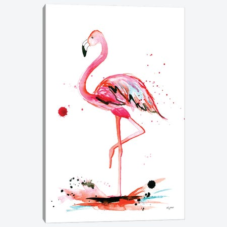Flamingo Canvas Print #KMT62} by Kelsey McNatt Art Print