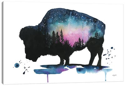 Galaxy Bison Canvas Art Print