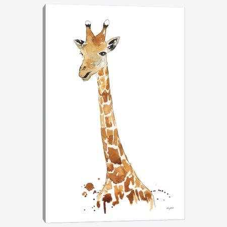 Giraffe Canvas Print #KMT69} by Kelsey McNatt Canvas Art Print