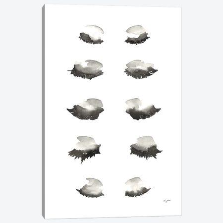 Bat A Lash Canvas Print #KMT6} by Kelsey McNatt Art Print