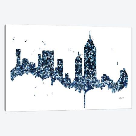 Glitter NYC Skyline Canvas Print #KMT72} by Kelsey McNatt Canvas Wall Art