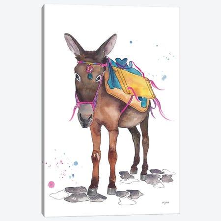 Greecian Donkey 3-Piece Canvas #KMT74} by Kelsey McNatt Art Print