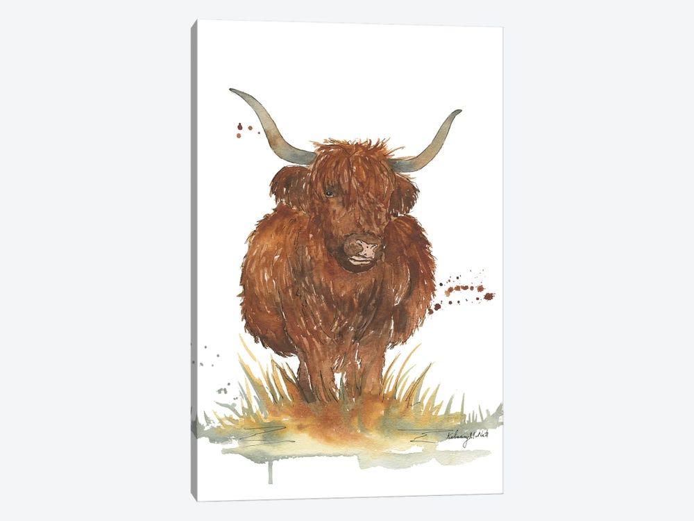 Highland Cow by Kelsey McNatt 1-piece Canvas Print