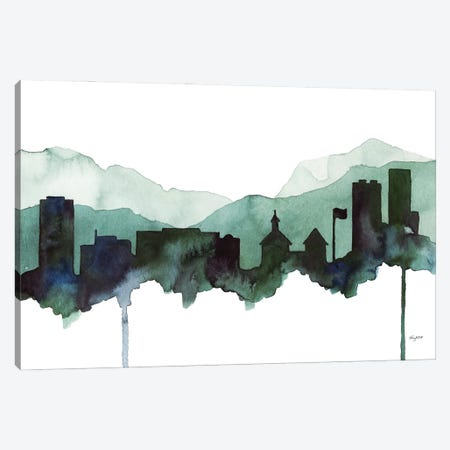 Juneau Skyline Canvas Print #KMT79} by Kelsey McNatt Canvas Wall Art