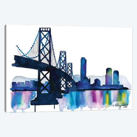 Bay Bridge Canvas Print #KMT7} by Kelsey McNatt Canvas Print