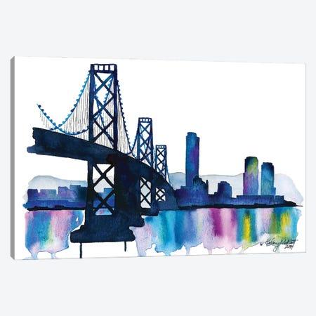 Bay Bridge Canvas Print #KMT7} by Kelsey McNatt Canvas Print