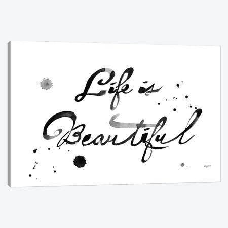 Life Is Beautiful Canvas Print #KMT83} by Kelsey McNatt Canvas Art Print
