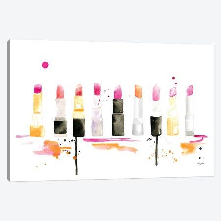 Lipstick Canvas Print #KMT84} by Kelsey McNatt Canvas Wall Art