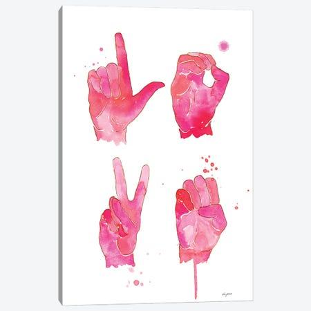Love Sign Canvas Print #KMT86} by Kelsey McNatt Canvas Art