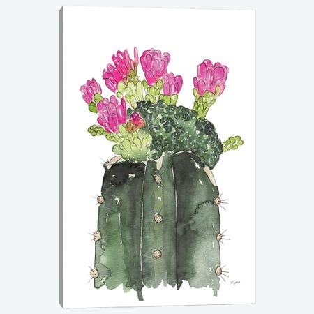 Blooming Cactus Canvas Print #KMT8} by Kelsey McNatt Canvas Wall Art