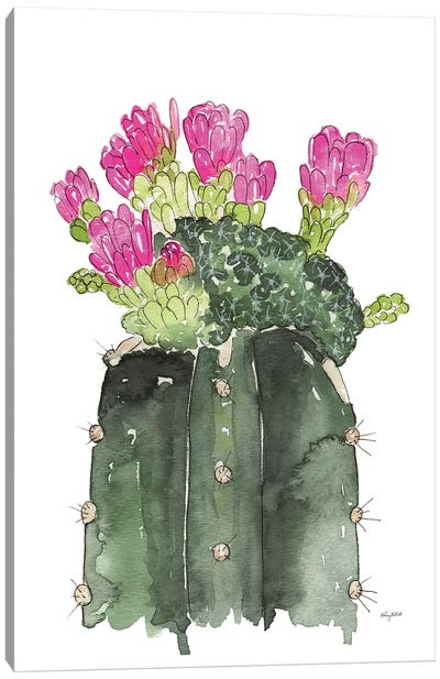 Blooming Cactus Canvas Art Print