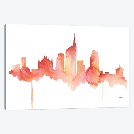 Milan Skyline Canvas Print #KMT90} by Kelsey McNatt Canvas Wall Art