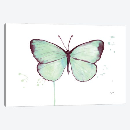 Mint Butterfly Canvas Print #KMT92} by Kelsey McNatt Canvas Art