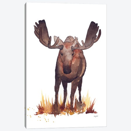 Moose Canvas Print #KMT95} by Kelsey McNatt Art Print
