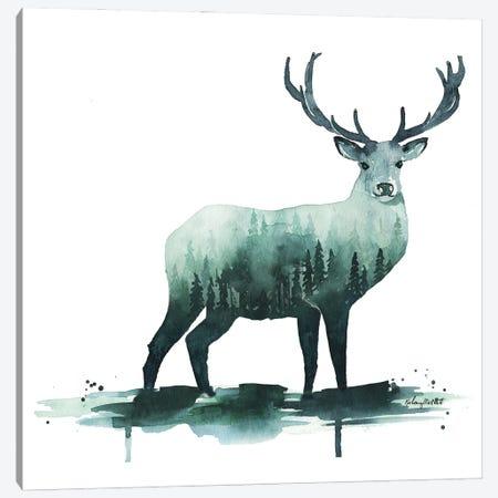 Nature Deer Canvas Print #KMT97} by Kelsey McNatt Canvas Print