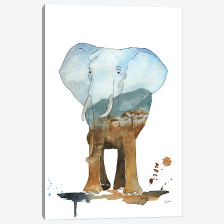 Nature Elephant Canvas Print #KMT98} by Kelsey McNatt Canvas Artwork