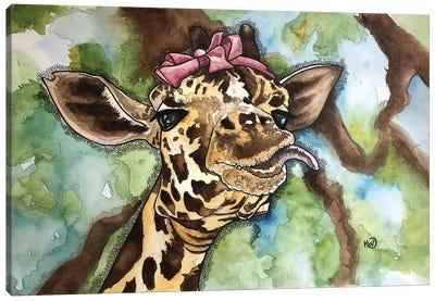 Goofy Girl Canvas Art Print