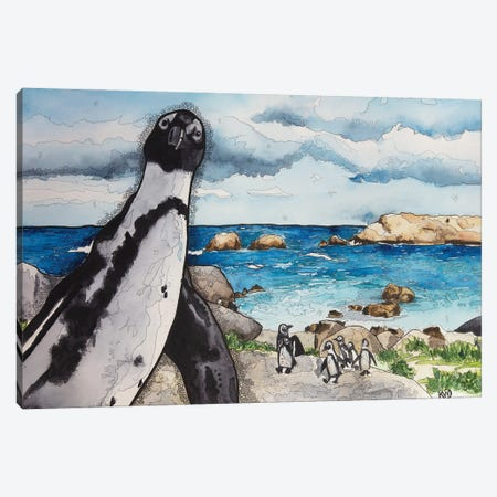 African Penguins Canvas Print #KMW1} by Kim Winberry Canvas Print