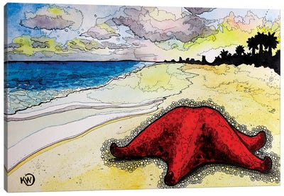 Bahama Sea Star Canvas Art Print